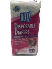 OUT! Disposable Female Dog Diapers, Size XS - S Opened Package