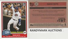 David Bote CHICAGO CUBS TOPPS 2018 THROWBACK WALK OFF GRAND SLAM TBT 227 SP 667