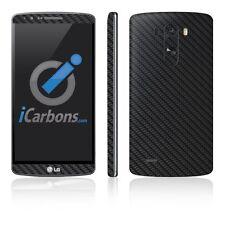 LG G3 Skins - Black Carbon Fiber vinyl skin by icarbons