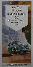 SUNBEAM TALBOT 90 1954 dealer brochure - English - Canada - ST501000418