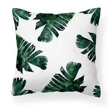 Stylish, Modern white Banana Leaf Cushion Cover/Throw Pillow/Sofa/Couch/Bedroom