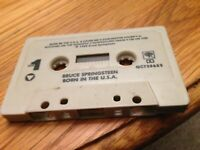 """Bruce Springsteen """"Born in the USA"""" Cassette NO ARTWORK TAPE ONLY"""