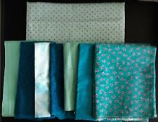 Quilting Fabric, Coordinated Turquois-Tone Assortment, 1, 2-Yard & 7, 1-Yard