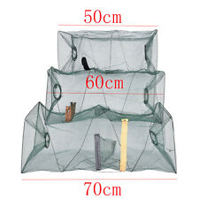 Fishing Bait Trap Cast DIP Net Cage Crab Fish Minnow Crawdad Shrimp Foldable O2 60cm
