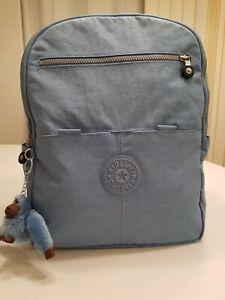 Kipling Backpack Large Blue Color Pre-Owned