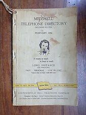 Mitchell, MN incl Fulton ~ Telephone Directory ~ Feb 1956 ~ Northwestern Bell