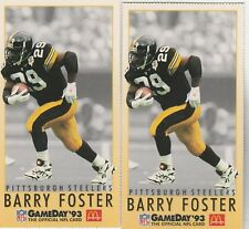 FREE SHIPPING-MINT-1993 MCDONALD'S GAMEDAY #14 BARRY FOSTER PITTSBURGH-2 CARDS