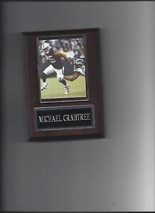 MICHAEL CRABTREE PLAQUE OAKLAND RAIDERS FOOTBALL NFL