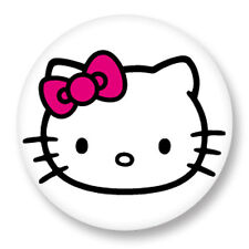 "Pin Button Badge Ø25mm 1"" Hello Kitty White Kawaii Paradise Japon Rose"