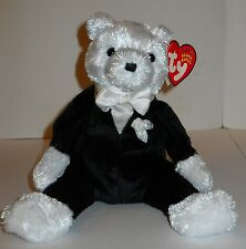 "TY BEANIE BABIES ""GROOM"" 8"" PLUSH BEAR, DON'T LET HIM GET ""COLD FEET""!   NWT'S!"