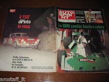 AUTOSPRINT 1974/9=BRM F1=PINTO FIAT-ABARTH 1850 RALLY