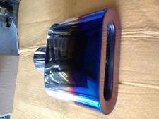 Chrome Exhaust Muffler Tip Caliber 5.5cm Stainless Steel 1pc for all car Blue