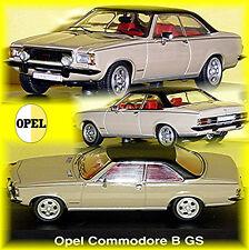 Opel Commodore B Coupe GS 1972-77 Brown-Black - Black 1:43 Schuco
