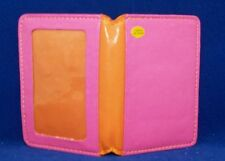 Girl's Pink and Orange Folding Wallet lots of Pockets New FREE SHIPPING