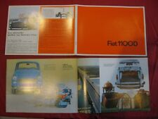 N°4251 / FIAT : catalogue berline 1100 D  1963