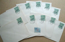 ADEN 1 July 1955 ten First Day Covers SG49A plus mint 15c with 3 line overprint