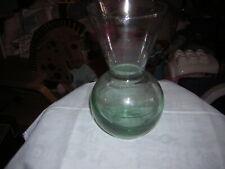 SMALL CLEAR BULB GLASS VASE 18 CM TALL