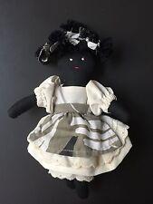 African American Rag Doll w Apron vtg? handmade?