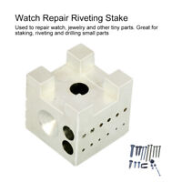 Wrist Watch Movement Holder Repair Tool Watchmaker Steel Block Riveting Stake