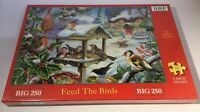 """Lovely BIG 250 Piece Jigsaw Puzzle """"Feed The Birds"""" By House Of Puzzles HOP. NEW"""