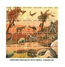 Guyana - 1990 - Prehistoric Sheet  -  Sheet Of 20 - MNH