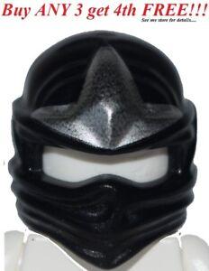 ☀️NEW Lego Ninjago Ninja BLACK HEAD WRAP ZX Cole Minifig Headwrap Hood Hat Gear