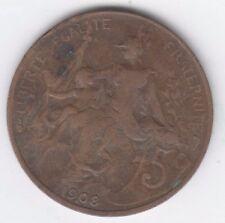France 1908 5 Centimes, Marianne, Bronze, Liberte Egalite Fraternite