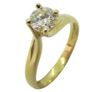 9ct Yellow Gold 0.40ct Round Solitaire Diamond Single Stone Engagement Ring