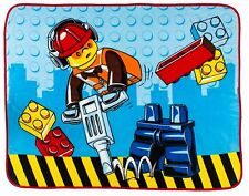 NEW LEGO CITY PREMIUM DESIGN CONSTRUCTION PANEL BLANKET BOYS FLEECE KIDS THROW