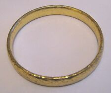 Great gold tone metal bangle style bracelet approx 2½ ins wide heavy and chic