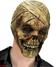MENS ZOMBIE MUMMY MASK OVERHEAD SCARY LATEX HALLOWEEN UNDEAD SKULL COSTUME NEW