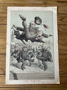 """St. Stephens Review Presentation Cartoon June26th,1886 """"Away With Him"""" Tom Merry"""