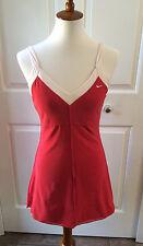 NIKE Sz Small Women's Tennis Dress Red White Bra Sleeveless Tank Top EUC