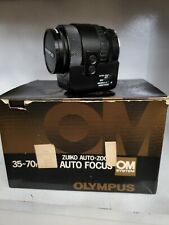 OLYMPUS OM ZUIKO 35mm F2 LENS WITH HOOD BOX LATER MC VERSION