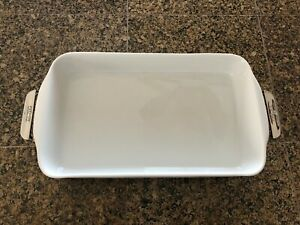 All-Clad Gourmet Accessories - Rectangular Ceramic Baker with Stainless Stand