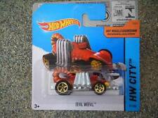 Hot Wheels 2014 #051/250 EEVIL WEEVIL red and silver HW CITY Batch N
