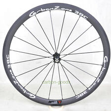 38mm road bike carbon front wheel Bicycle basalt white sticker 23mm 700C 3k matt