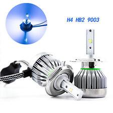 Ice Blue H4 HB2 9003 COB LED Headlight Conversion Kit 6000LM For Honda Chevrolet