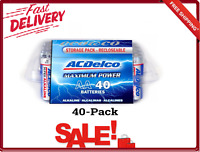 40-Pack Acdelco Super Alkaline AA Batteries Fits High-Drain Digital Devices New