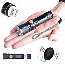 Starke LED USB Taschenlampe Polizei Swat Wiederaufladbar 1200 Lumen+ Alarmsignal