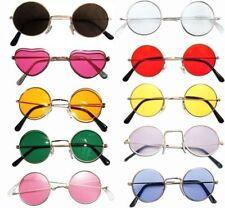 Lennon Glasses 60s 70s Hippie Fancy Dress Accessory Yellow