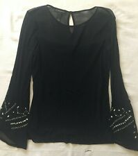 Women's INC Black Blouse with Beading - Sz Small