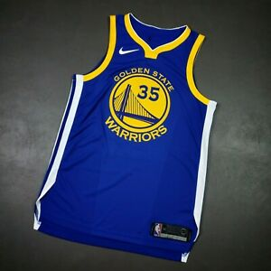 100% Authentic Kevin Durant Nike Warriors Icon Jersey Size 44 M Medium Mens