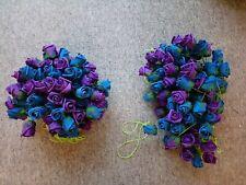 🌹 Blue & Purple foam Artificial Rose Garland Flower 🌸 Wedding Décor bunches