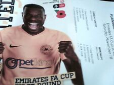 18/19 TORQUAY UNITED V WOKING [+TICKET AND TEAM SHEET ]10/11/18 FA CUP