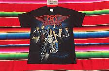 NEW AEROSMITH American rock band 2010 concert tour black tee t shirt M rare NWOT