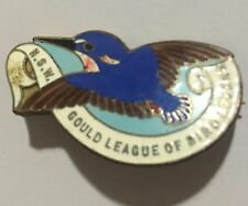 Rare 1937 NSW Gould League of Bird Lovers Badge by Millers Ltd Sydney Kingfisher
