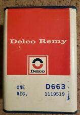 Delco-Remy D663 Voltage Regulator 1119519 fits Corvette  Z28, Chevelle,  others