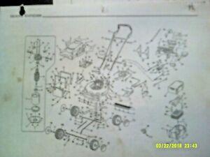 Ryobi Battery & Electric Walk Mower Parts List BMM2400 / CMM1200 / BRM2440 etc