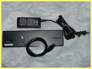 TARGUS DOCKING STATION ACP70USZ HDMI DVI ETHERNET WITH AC ADAPTER USB 3.0 CABLE